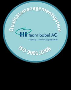 Unser Qualitätsmanagementsystem ist ISO 9001:2015 konform